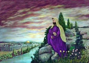 Jesus Overlooking Jerusalem